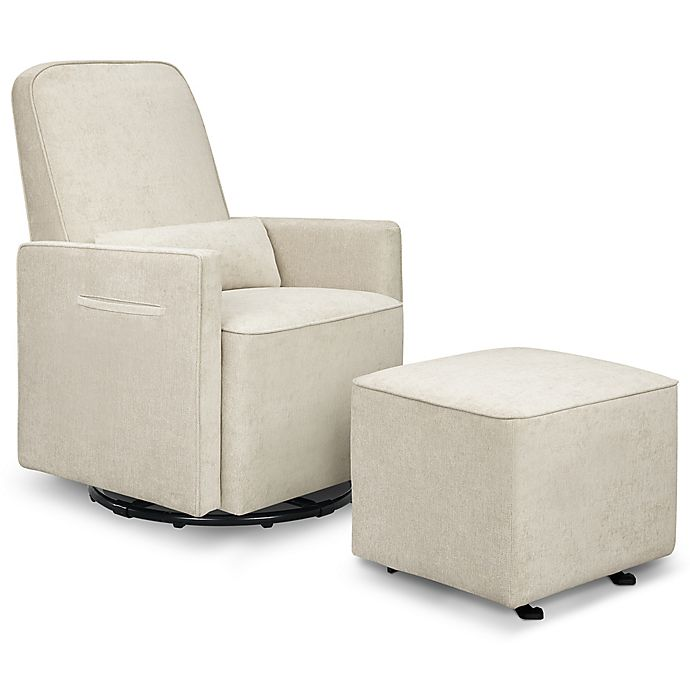 Alternate image 1 for DaVinci Sierra Swivel Glider in Heathered Cream with Gliding Ottoman