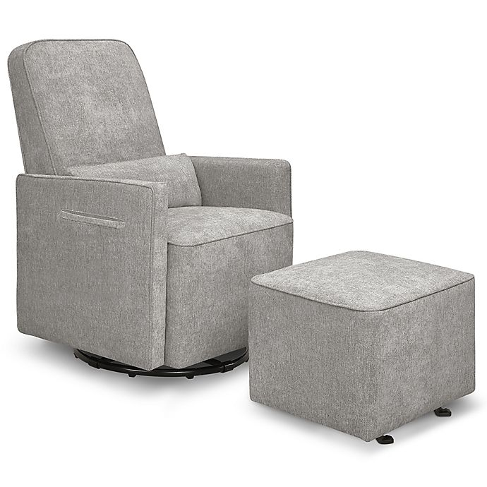 Alternate image 1 for DaVinci® Sierra Swivel Glider with Gliding Ottoman