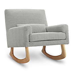 Nursery Works Sleepytime Rocker in Light Grey Weave with Light Legs