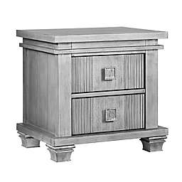 Soho Baby Mayfield 2-Drawer Nightstand in Antique Silver