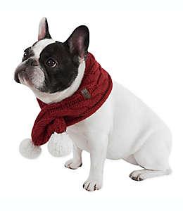 Bufanda para mascotas UGG® tejida con pompones en rojo