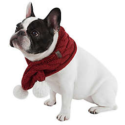 UGG® Pet Cable Knit Scarf with Pom-Poms