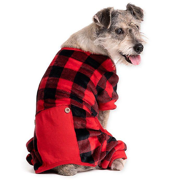 Alternate image 1 for Pawslife™ Buffalo Check Dog Pajamas
