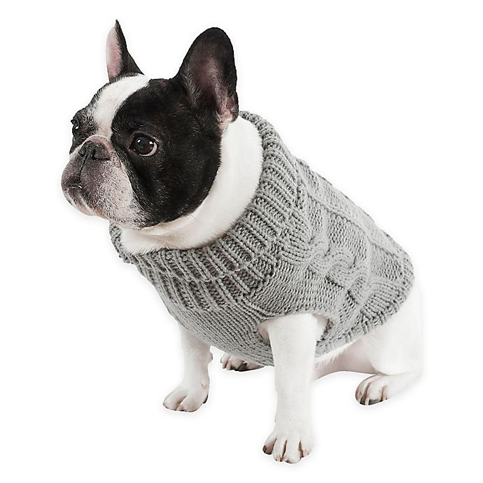 a442cf1024a UGG® Cable Knit Extra-Small Dog Sweater in Grey