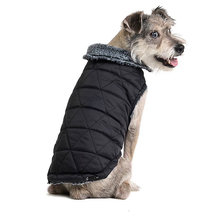 Alternate image 1 for Pawslife™ Extra-Small Pet Collar Pongee Coat in Grey