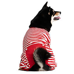 Pawslife™ Striped Dog Pajamas in Red/White