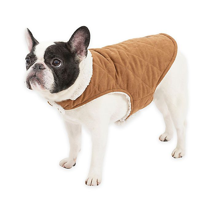 Ugg 174 Classic Suede Reversible Dog Coat In Chestnut Snow