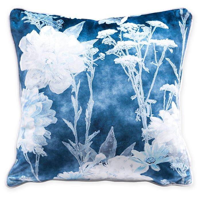 Alternate image 1 for Zuo® Italy Square Decorative Pillow in Blue/White