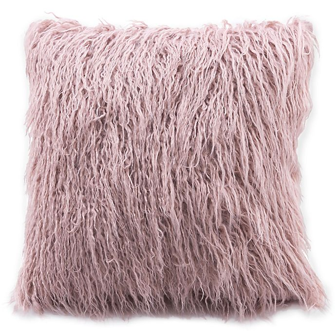 Alternate image 1 for Zuo® Area Faux Fur Pillow in Dusty Pink