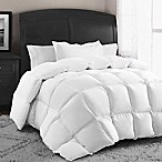 Swiss Comforts Down and Feather Reversible King Comforter in White