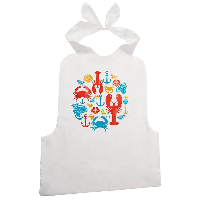 Alternate image 1 for Trudeau Disposable Seafood Bibs (Set of 4)