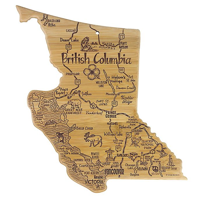 Alternate image 1 for Totally Bamboo® Destination British Columbia Cutting Board