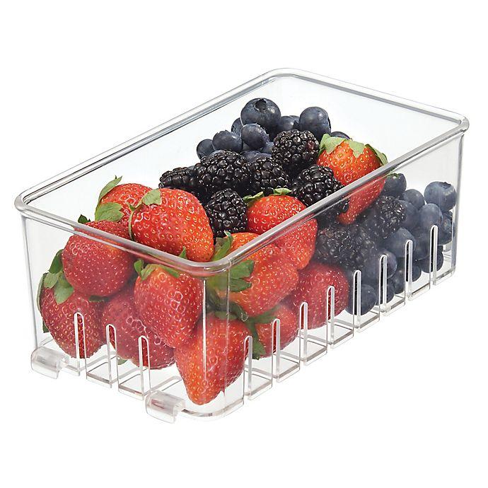 Alternate image 1 for InterDesign® Fridge Binz Clear Stackable Berry Basket