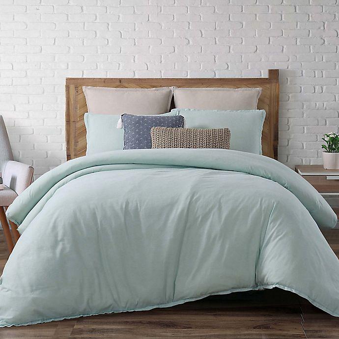 Alternate image 1 for Brooklyn Loom Chambray Loft Twin XL Comforter Set in Aqua