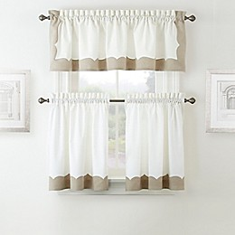 Waterford® Cassia Window Curtain Tier Pair in Beige