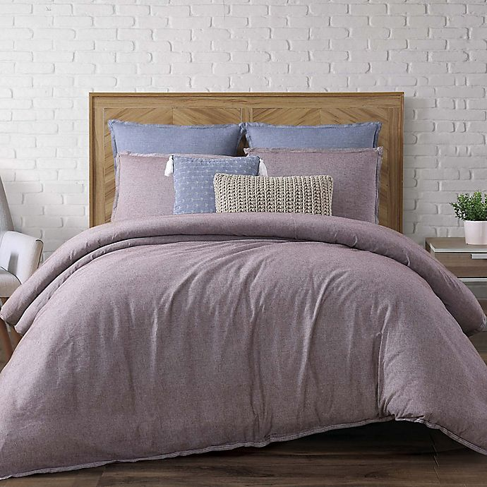 Alternate image 1 for Brooklyn Loom Chambray Loft Twin XL Comforter Set in Plum