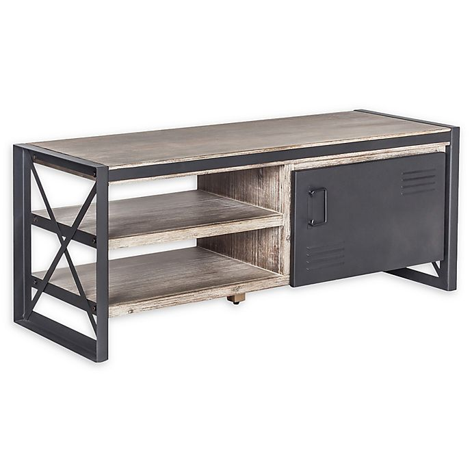 Alternate image 1 for Moe's Home Collection Bronx 1-Door TV Stand in Light Brown