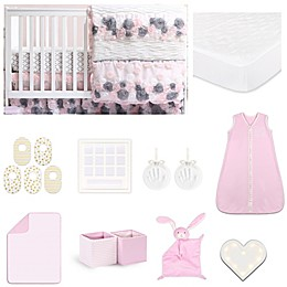 The Peanutshell™ Colette Crib Bedding Collection in Pink