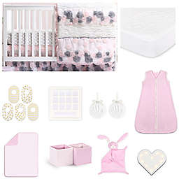 The Peanutshell® Colette Crib Bedding Collection in Pink