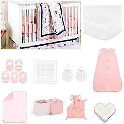 The Peanut Shell® Coral Floral Crib Bedding Collection