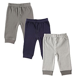 Luvable Friends® 3-Pack Tapered Ankle Pants in Grey Stripe
