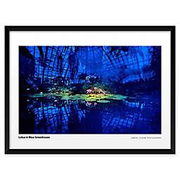 Daniel Furon's Lotus in Blue Greenhouse Wall Art