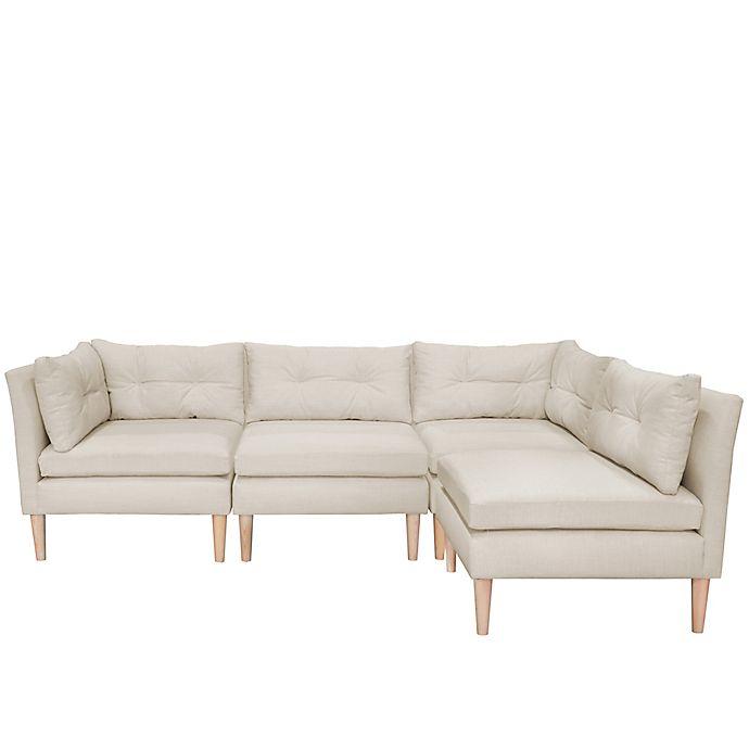 Varick 4-Piece Linen Sectional Sofa | Bed Bath & Beyond