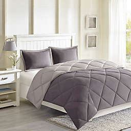 Madison Park Essentials Larkspur 3M Scotchgard 2-Piece Twin/Twin XL Comforter Set in Charcoal Grey