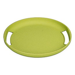 BIA Cordon Bleu BIAmboo Round Serving Tray with Handles in Chartreuse