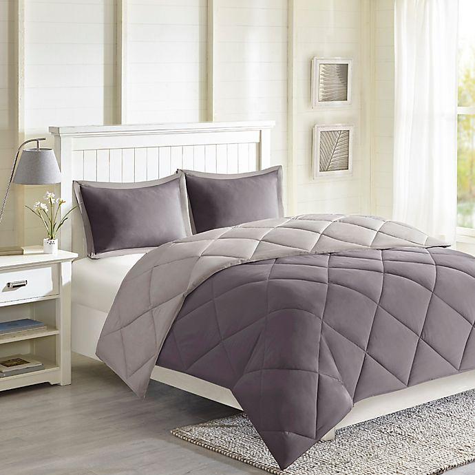 Alternate image 1 for Madison Park Essentials Larkspur Reversible Down Alternative 3M Scotchgard Comforter Set
