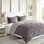 Madison Park Essentials Larkspur Reversible 3M Scotchgard King Comforter Set in Charcoal Grey