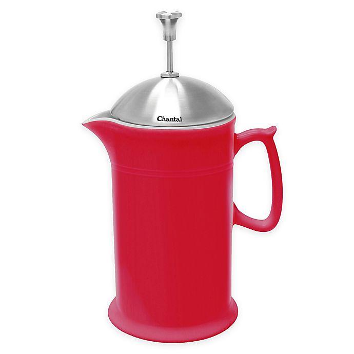 Alternate image 1 for Chantal® 28 oz. Ceramic French Press in Red