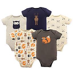 Hudson Baby® 5-Pack Woodland Bodysuits in Beige