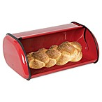 Home Basics® Stainless Steel Bread Box in Red