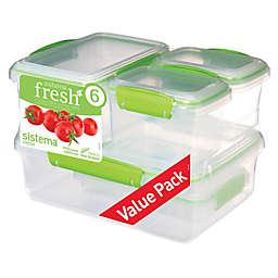 Sistema® Fresh™ 12-Piece Rectangular Food Container Set in Green