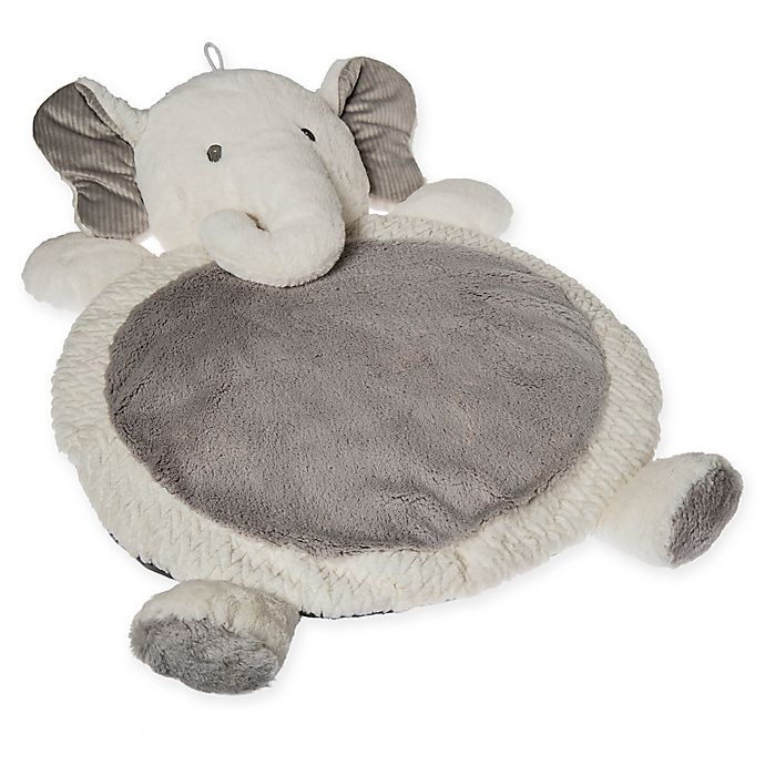 Alternate image 1 for Mary Meyer Elephant Baby Mat in Grey/White