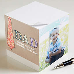 Dad Photo Paper Note Cube