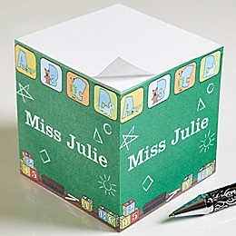 Teacher's Little Learners Paper Note Cube in Green
