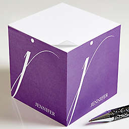 Stylish Monogram Paper Note Cube