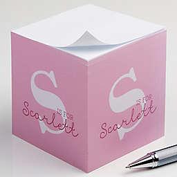 Alphabet Fun Paper Note Cube