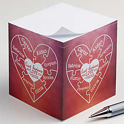 We Love You To Pieces Paper Note Cube