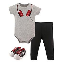 Little Treasure Headphone Bodysuit, Pant, and Shoe Set