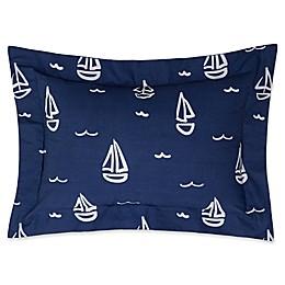 Lullaby Bedding Away At Sea Boudoir Throw Pillow in Navy/White