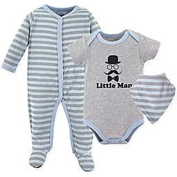 Luvable Friends® 3-Piece Little Man Sleeper, Bodysuit, and Bib Set