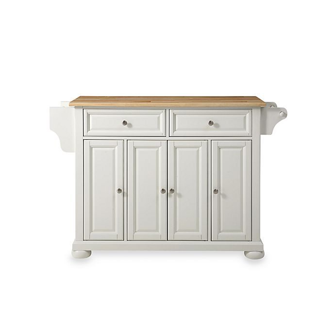 Crosley Alexandria Natural Wood Top Kitchen Island Bed Bath Beyond