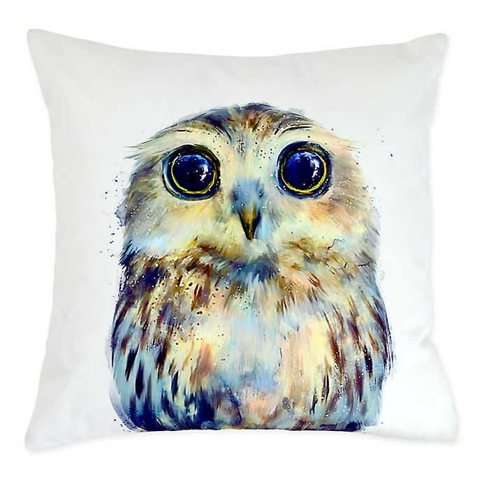 Versailles Home Fashions Hibou Square Indoor Outdoor Throw Pillow In