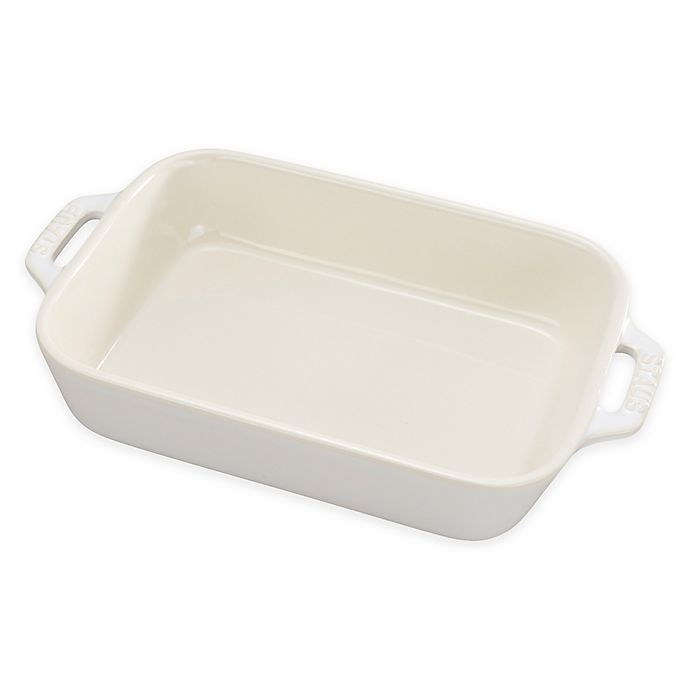 Alternate image 1 for Staub® 1.25 qt. Rectangular Baking Dish in Rustic Ivory
