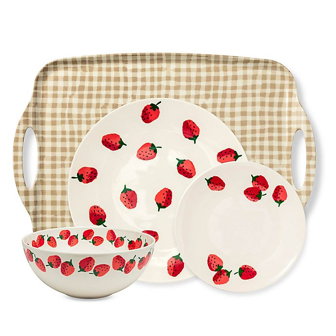 Alternate image 1 for kate spade new york Strawberries Melamine Dinnerware Collection