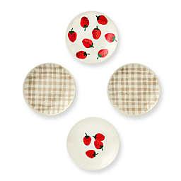 kate spade new york Strawberries Melamine Tidbit Plates (Set of 4)