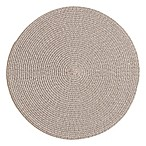 Rue Montmartre Cascade Braided Vinyl Placemats in Grey (Set of 4)